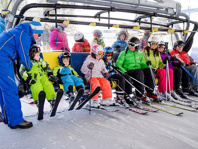 De familie-skilift in Serfaus-Fiss-Ladis