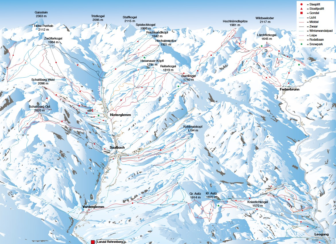 Skigebied bij Landal Rehrenberg