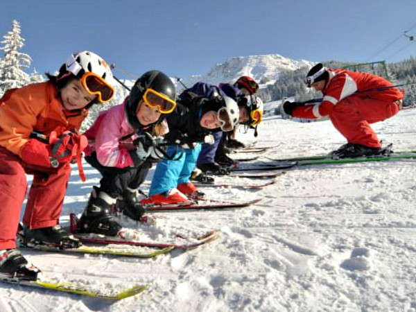 Skiklasje in het skigebied Oberjoch