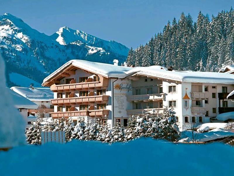 Hotel Alpenhof in de sneeuw
