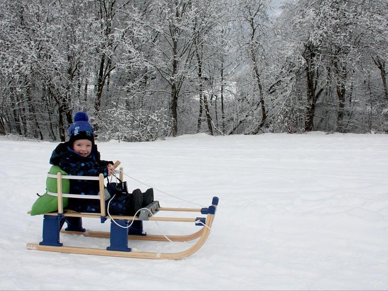 Sleetje rijden in winter wonderland
