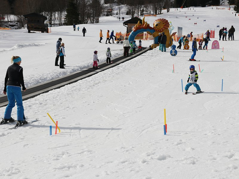 Het wekelijkse skiwedstrijdje in Riesneralm