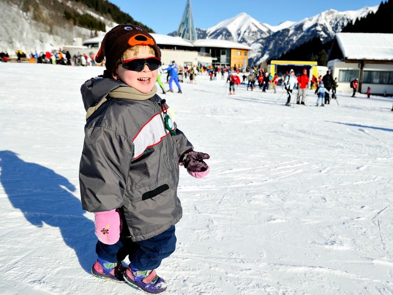 Kindje in de sneeuw